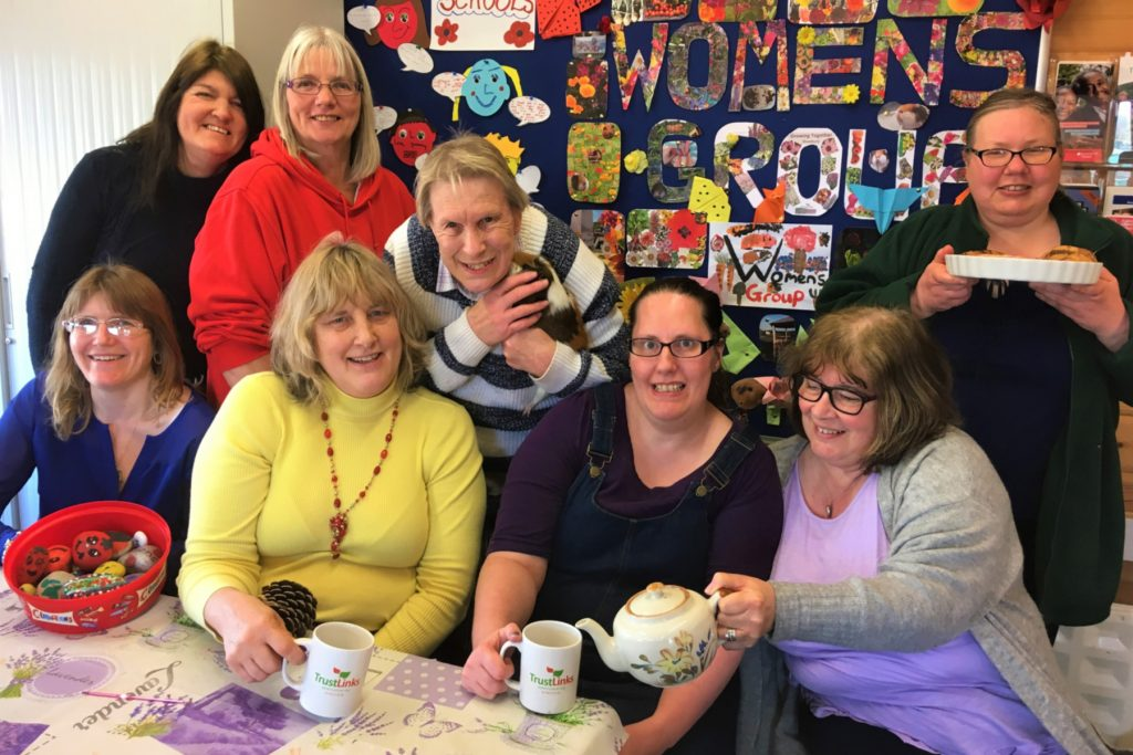 Members of the Women's Group with tea and cakes