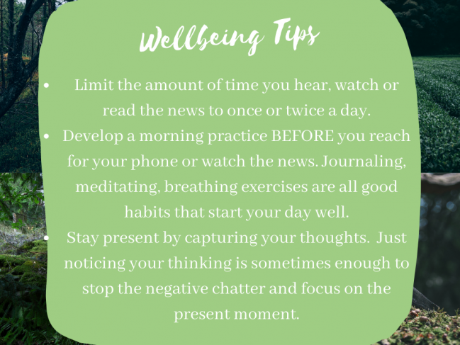 Penny's Top Wellbeing Tips For Each Day