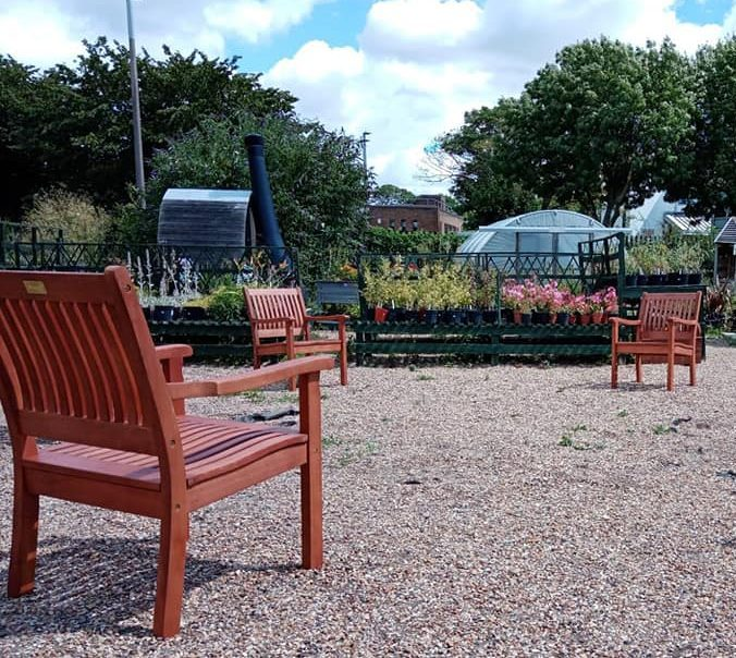 Socially distant chairs at Growing Together Westcliff