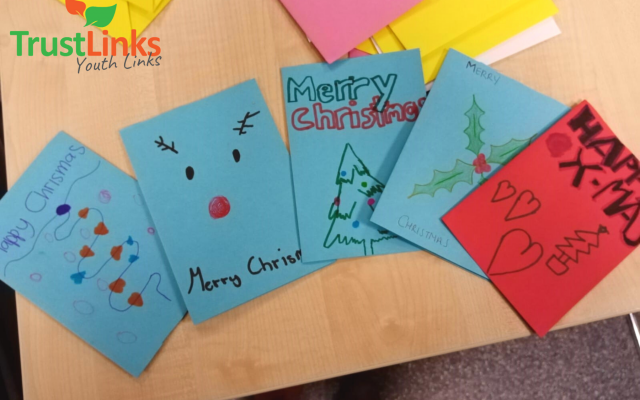 Trust Links Youth spread hope by making Christmas Cards for the homeless