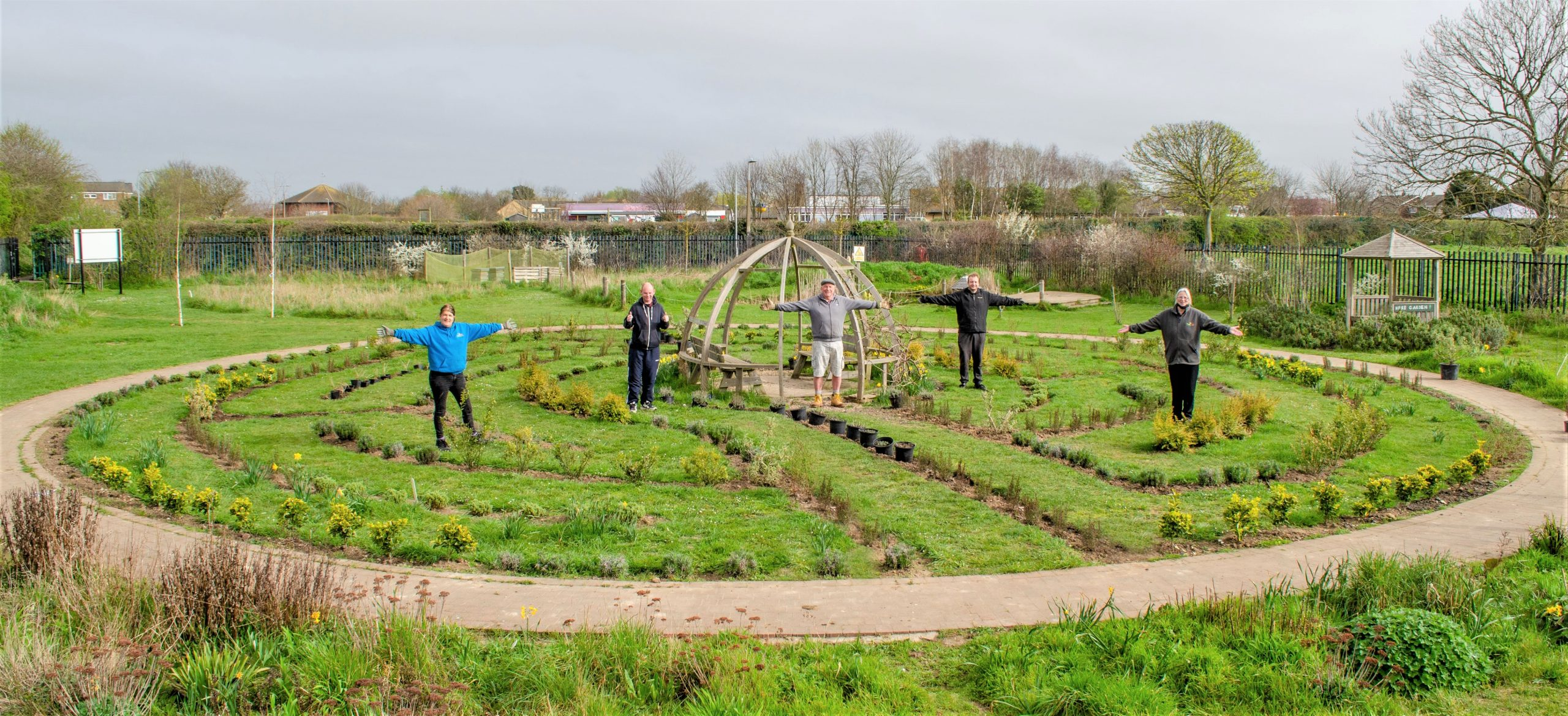 Shoebury therpeutic labyrinth helps wellbeing through nature