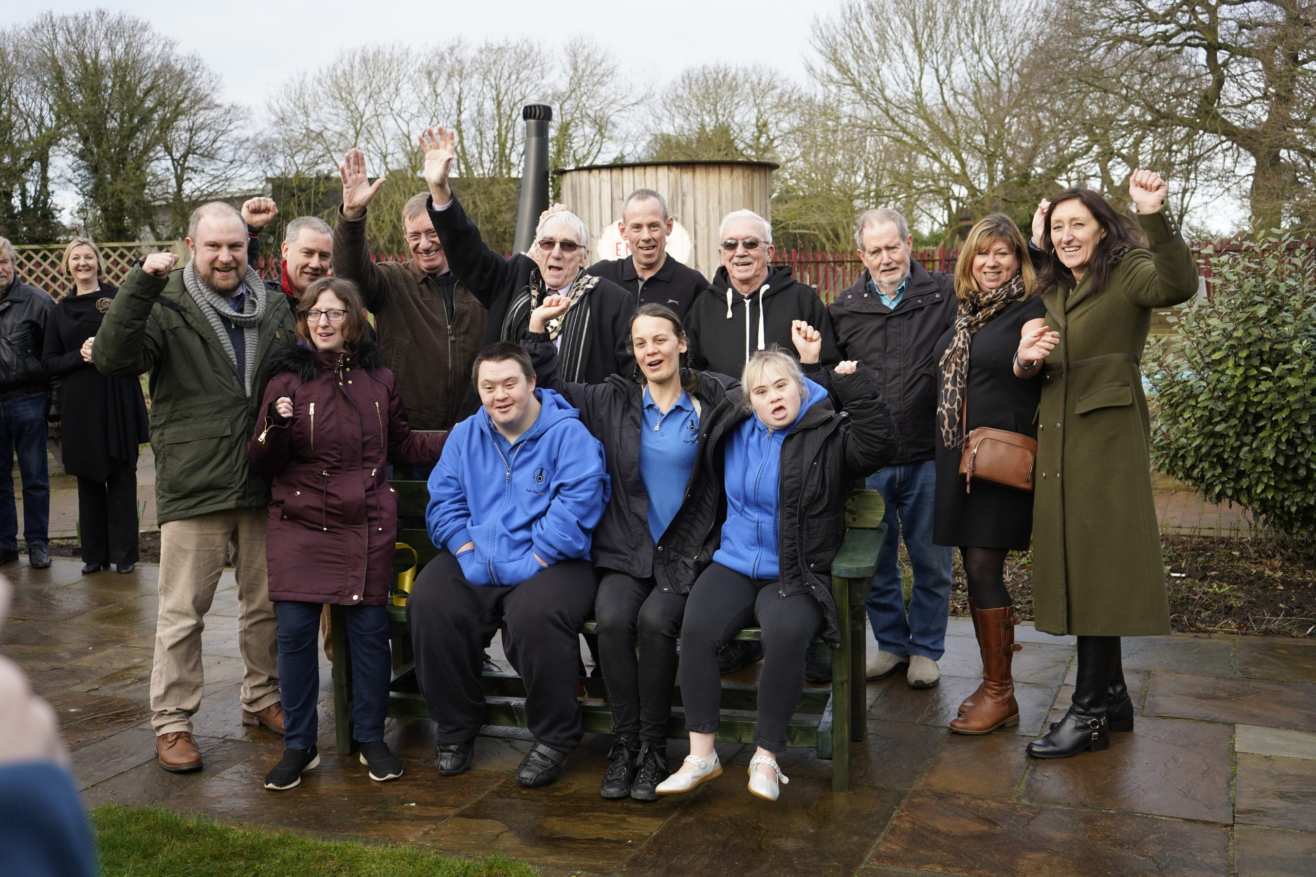 Matt King with staff, volunteers and guests at Growing Together Thundersley
